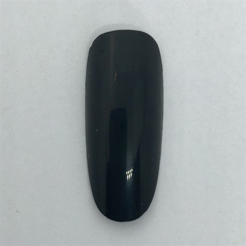Begin by polishing the nail with black gel polish and cure.