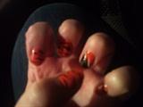 orange leopard and black nails