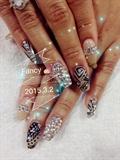 Pretty Brithday girl nails