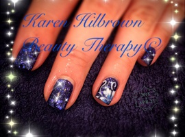 nail art: Blue Flowers Xxx
