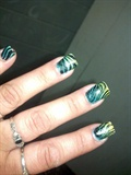 green gold gradient water marble