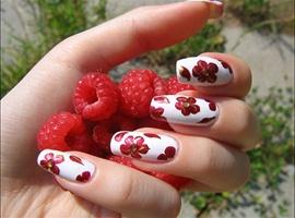 nail art: Red