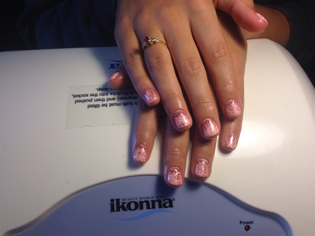 Short And Pink With Glitter