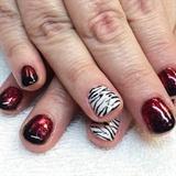 Red And Black Zebra
