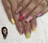 Winnie The Pooh - Piglet Inspired Nails