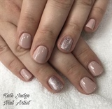 Nude Gel Polish With Rose Gold
