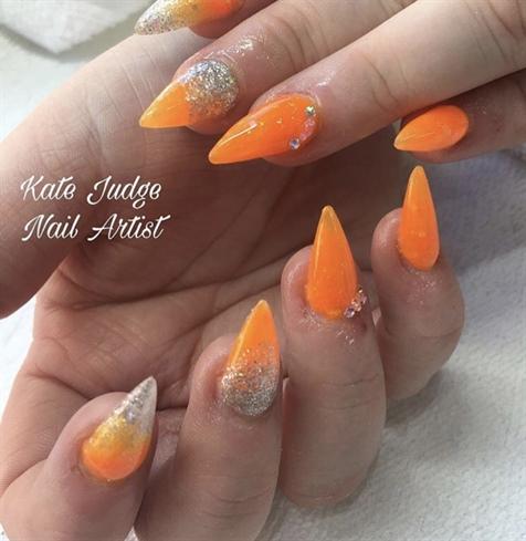 Orange Holiday Nails