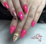 Hot Pink Sleeping Beauty Nails