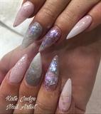 Unicorn Inspired Pink Nails