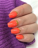 Hot Orange Summer Nails