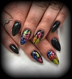 Black And Colourful Foiling