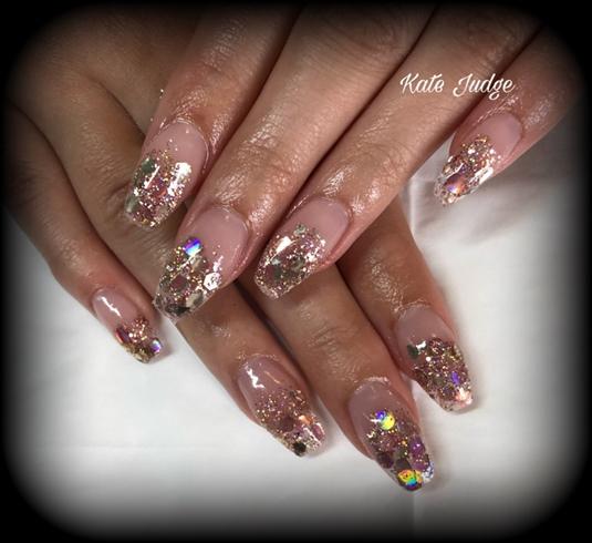 Rose Gold Glitter Ombré
