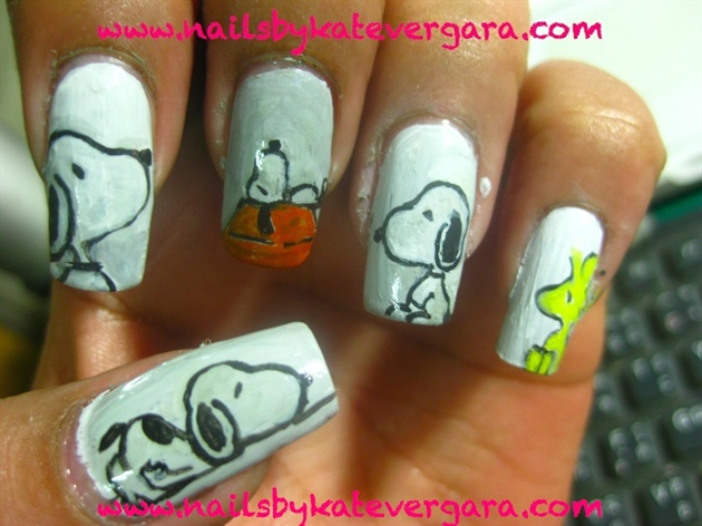 snoopy - Snoopy - Nail Art Gallery