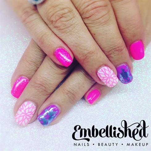 Stamping summer pinks