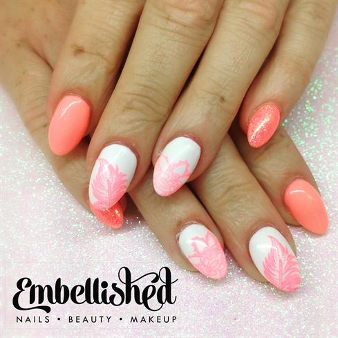 Stamping summer peach