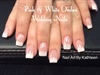 Pink And White Ombré French Wedding Nail