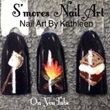 S'mores Nail Art