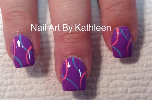 Bright Purple Nails