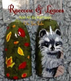 Raccoon And Leaves