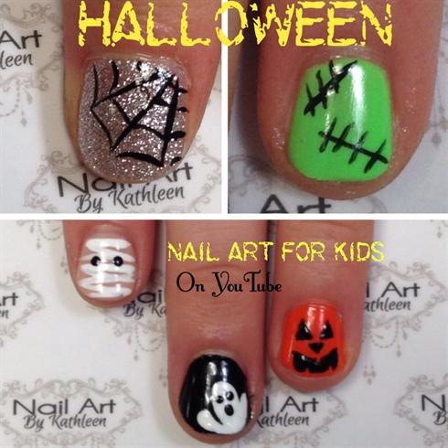 Halloween Nail Art For Kids
