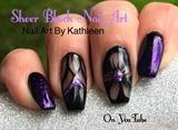 Sheer Black Nails