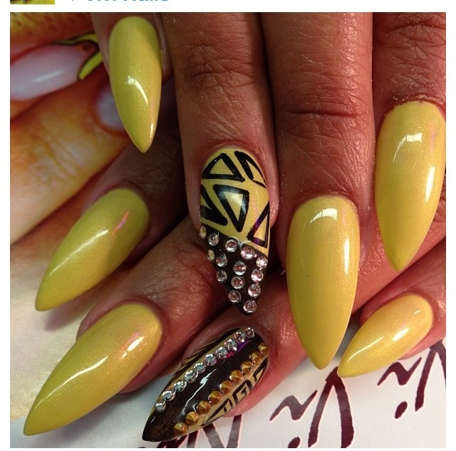 Go Back > Gallery For > Pointy Nail Art 2013