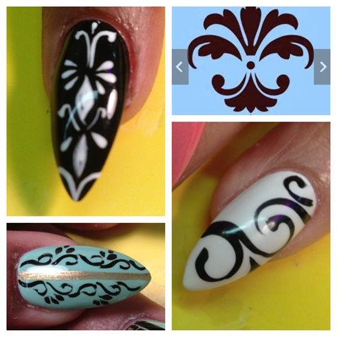 Damask Nail Art Gallery