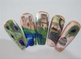 Warwick Castle handpainted Nail Design