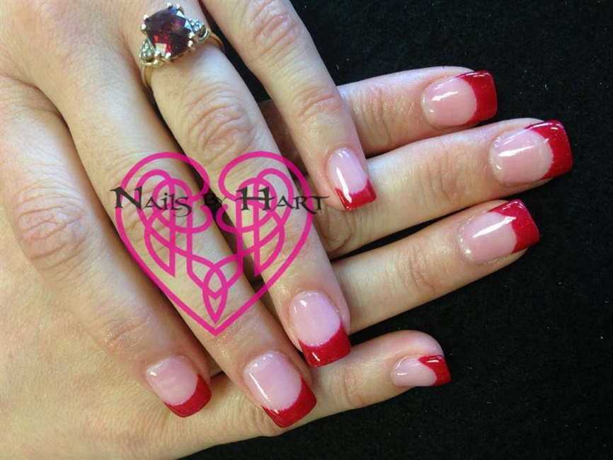 Red French Manicure - Nail Art Gallery