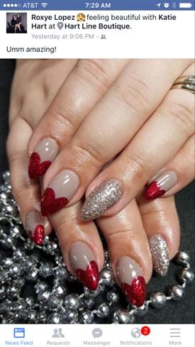 Valentine Pinup Nails