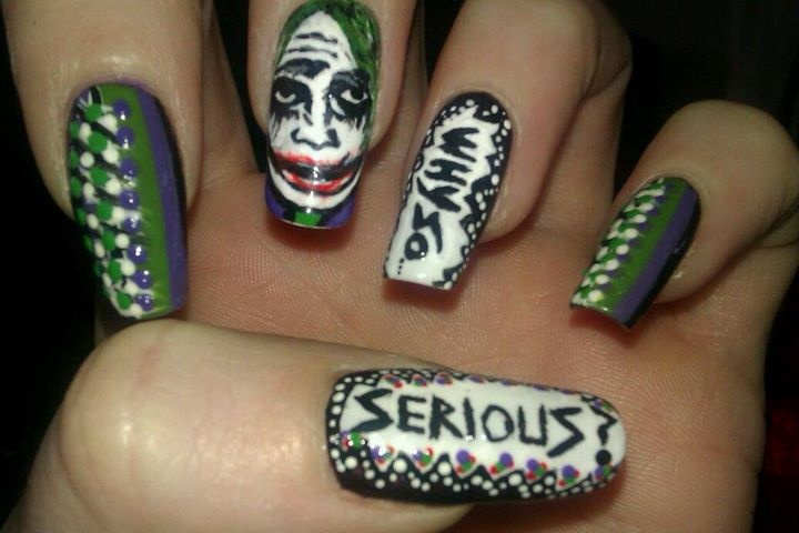 The Joker - Nail Art Gallery