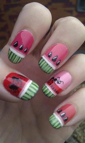 Watermelon Nails!! xD