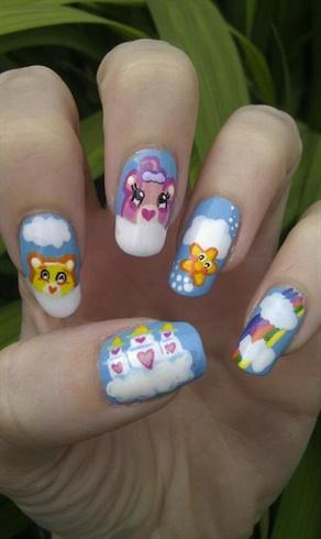 Care Bear Nail art! =D