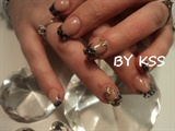 Sculptered French Glitter