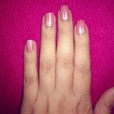 Esmalte rosa,líneas plateadas