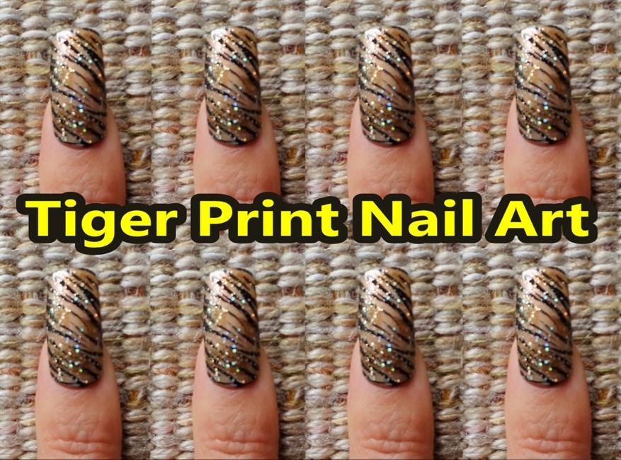Tiger Print Nail Art Design Nail Art Gallery Step By Step Tutorial