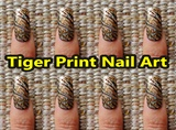 Tiger Print Nail Art Design