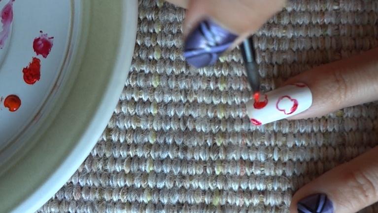 Pretty Apples Nail Art Design Nail Art Gallery Step By Step