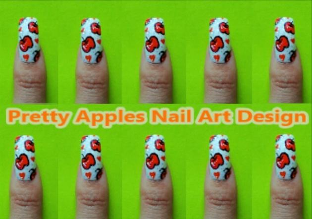 Pretty Apples Nail Art Design
