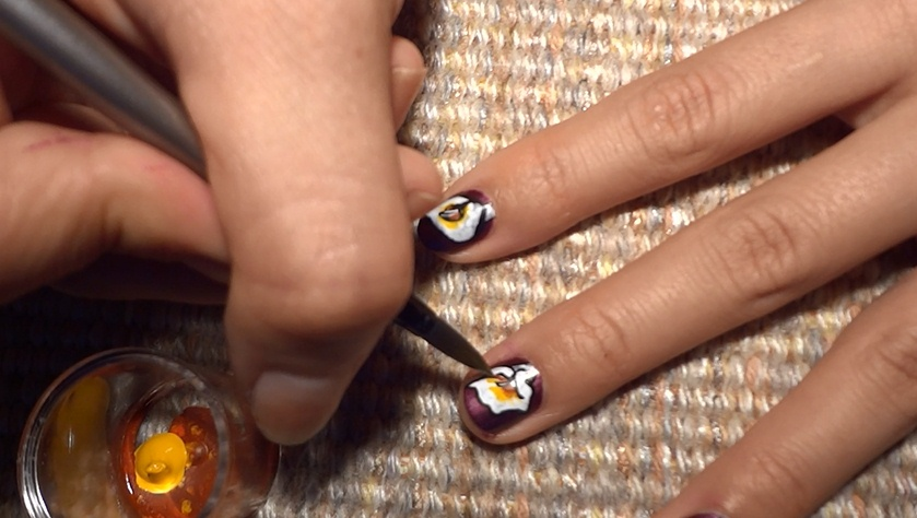 Lily Nail Art Design - Nail Art Gallery Step-by-Step Tutorial Photos