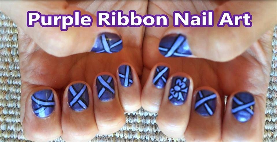 Purple ribbon nail art design nail art gallery step by step purple ribbon nail art design easy cute nail art kawaiinailartdesign httpsyoutubeuserkawaiinailartdesign purple ribbon nail art prinsesfo Gallery