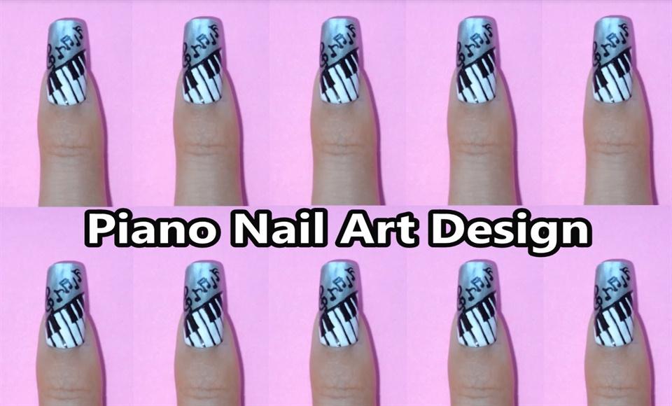 Piano Nail Art Design Nail Art Gallery Step By Step Tutorial Photos