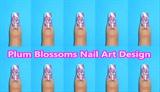 Plum Blossoms Nail Art Design