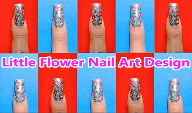 Littel Flower Nail Art Design