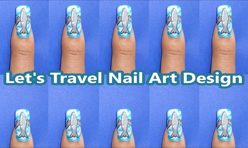 Lets travel nail art design nail art gallery step by step kawaiinailartdesign httpsyoutubeuserkawaiinailartdesign lets travel nail art design httpyoutuge9hidkdkhs prinsesfo Images