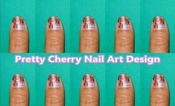 Pretty Cherry Nail Art Design