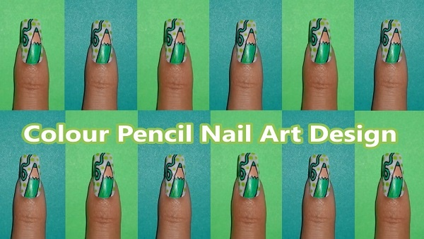 Ногти по дизайне карандашом