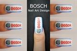 BOSCH Logo Nail Art Design