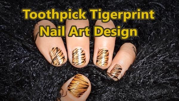 9 Steps KawaiiNailArtDesign Youtube User Kawaiinailartdesign Toothpick Tigerprint Nail Art Design Qtc5OuUlQ9Y