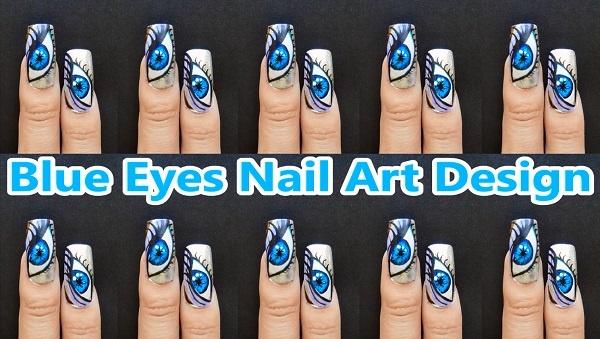 Blue Eyes Nail Art Des Nail Art Gallery Step By Step Tutorial Photos